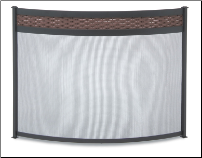 Basket Weave Bowed Fireplace Screen