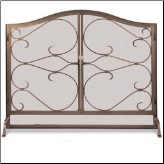 Iron Gate Arched Flat Screen With Arched Doors (SKU: 184-)
