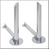 Modern Tower Polished Nickel Fireplace Andirons (SKU: 18668)