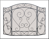 Country Scroll Fireplace Screen (SKU: 192-)