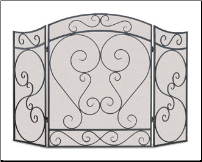 Country Scroll Fireplace Screen