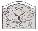 Shakespeare's Garden Fireplace Screen (SKU: 192)