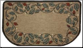 Textured Weave Berry Vine Natural Rug (SKU: 19628)