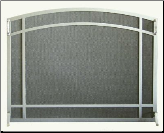 "Single Panel ""Millennium"" Arched Fireplace Screen (SKU: PW 2100)"