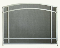 "Single Panel ""Millennium"" Arched Fireplace Screen"