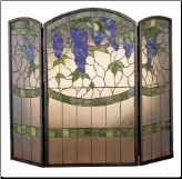 "Wisteria Folding Fireplace Screen 40""W X 34""H (SKU: MT 27235)"