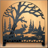 "Moose Creek Arched Fireplace Screen 30""W X 30""H (SKU: MT)"