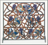 "Grapevine Fireplace Screen 34""W X 31""H (SKU: MT 32221)"