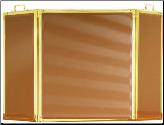 3 Panel Folding Glass Fireplace Screen - Available in Standard And Custom Sizes - Choice of 28 Finishes - In 4 Glass Colors (SKU: PW 4150)