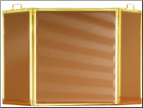 3 Panel Folding Glass Fireplace Screen - Available in Standard And Custom Sizes - Choice of 28 Finishes - In 4 Glass Colors