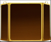 3 Panel Folding Fireplace Screen - Available in Standard And Custom Sizes - Choice of 28 Finishes (SKU: PW 4350)