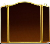 3 Panel Folding Arched Fireplace Screen - Available in Standard And Custom Sizes - Choice of 28 Finishes (SKU: PW 4360)