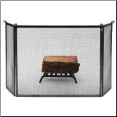 3 Panel Rolled End Fireplace Screen (SKU: EN-FPS3)