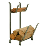 Country Home Log Rack with Kindling Holder (SKU: EN-LR11)