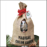 Magical Color Pine Cones In Burlap Bag (SKU: 10110)