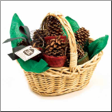 Pine Cone Fire Starter In Willow Basket (SKU: 10284)