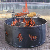 Big Sky Wildlife Fire Pit Fire Ring (SKU: 5LU-28326)