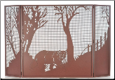 Northwoods Bear At Dusk Folding Fireplace Screen (SKU: MT 71141)