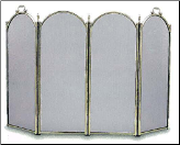 "4 Panel ""Centry"" Folding Fireplace Screen - Available in Standard And Custom Sizes - Choice of 28 Finishes (SKU: PW 790 Custom)"