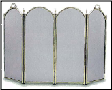 """Century"" Solid Brass Fireplace Screen (SKU: PW 790)"