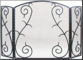 3 Panel S-Scrolled Fireplace Screen