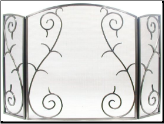 3 Panel Scrolled Fireplace Screen (SKU: 800)