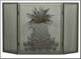 Pineapple Folding Fireplace Screen (SKU: MT 81084)