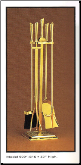 4-Piece Stand Hanging Fire-set In Choice Of 28 Finishes (SKU: PW 9091)