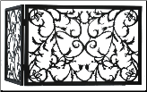 Vine Folding Fireplace Screen (SKU: MT 97928)
