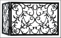 Vine Folding Fireplace Screen
