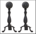 Black Ball Andirons (SKU: A-1234)