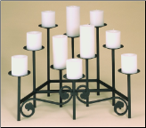 Ten Candle Tiered Fireplace Candelabra (SKU: 304100)