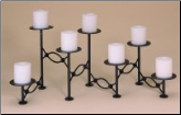 Seven Candle Oval Looped Fireplace Candelabra (SKU: 304115)
