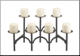 Seven Candle Curved Fireplace Candelabra (SKU: 304135)
