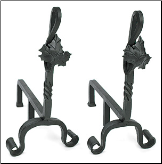 Maple Leaf Fireplace Andirons (SKU: AND-04)