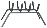 Steel Bar Fireplace Log Grate (SKU: C-15)