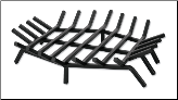 Hex Shape Bar Grate For Outdoor Fireplaces (SKU: C-154)