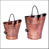 Antique Copper Coal Hod/Pellet Bucket (SKU: C-8)
