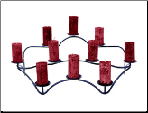 Ten Candle Contours Hearth Candelabra (SKU: CH-06)