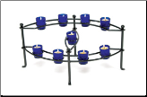 Nine Candle Cobalt Votive Hearth Candelabra (SKU: CH-21)