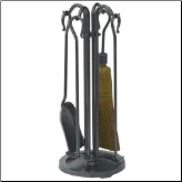 5 Piece Black Olde World Mini Fireplace Tools (SKU: F-1162)