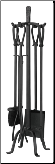 5 Piece Olde World Iron Fireplace Tools (SKU: F-1183)