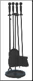 5 Piece Pre-Assembled Fireplace Tool Set (SKU: F-1583B)