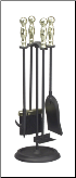 5 Piece Ball Handled Mini Fireplace Tool Set (SKU: 87094)