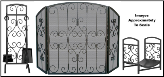 Graphite with Scrollwork Fireplace Package Set (SKU: PAK-FSW-19-808191)