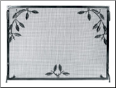 Weston Flat Panel Fireplace Screen with Leaves and Berries (SKU: G-)