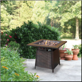 LP GAS OUTDOOR FIREBOWL WITH TILE MANTEL (SKU: GAD1001B)