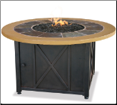 Uniflame LP Gas Outdoor Fireplace w/Slate and Faux Wood Mantel (SKU: GAD1362SP)
