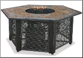 Uniflame LP Gas Outdoor Fireplace w/Slate Mantel (SKU: GAD1374SP)
