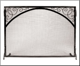 Sterling Flat Panel Fireplace Screen With Scrollwork (SKU: GS-)